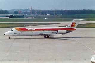 """Iberia McDonnell Douglas DC-9-32 EC-BQZ """"Ciudad de Santa Cruz de La Palma"""""""