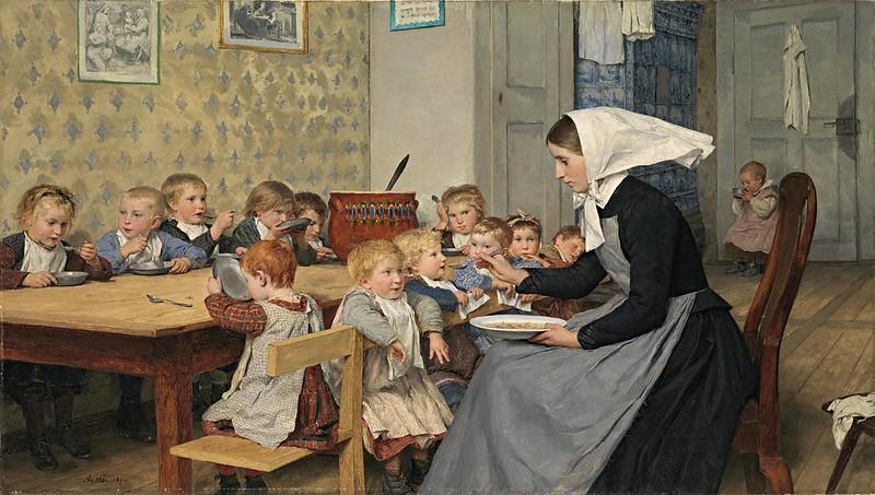 Albert Anker - Die Kinderkrippe I (1890)