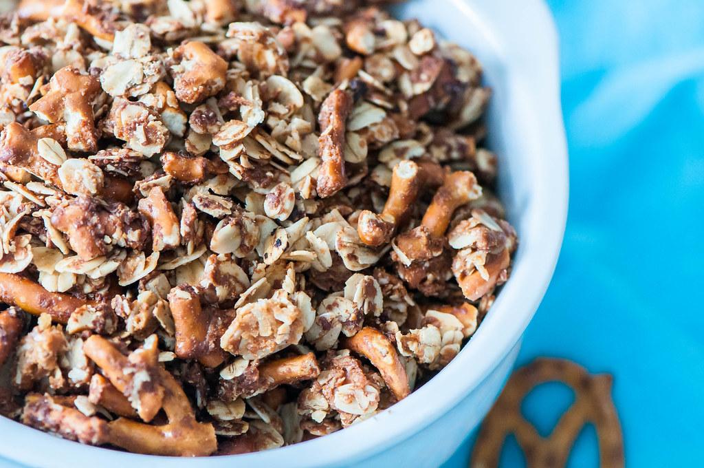 Peanut Butter Pretzel Granola 5