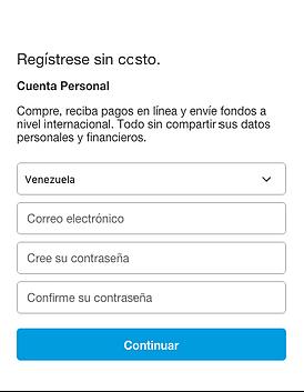 Completa tus datos en PayPal