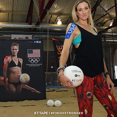 A shoulder surgery can't stop this gold medalist. @KerriLeeWalsh steps onto the court with confidence thanks to the support of #kttape. #RoadToRio