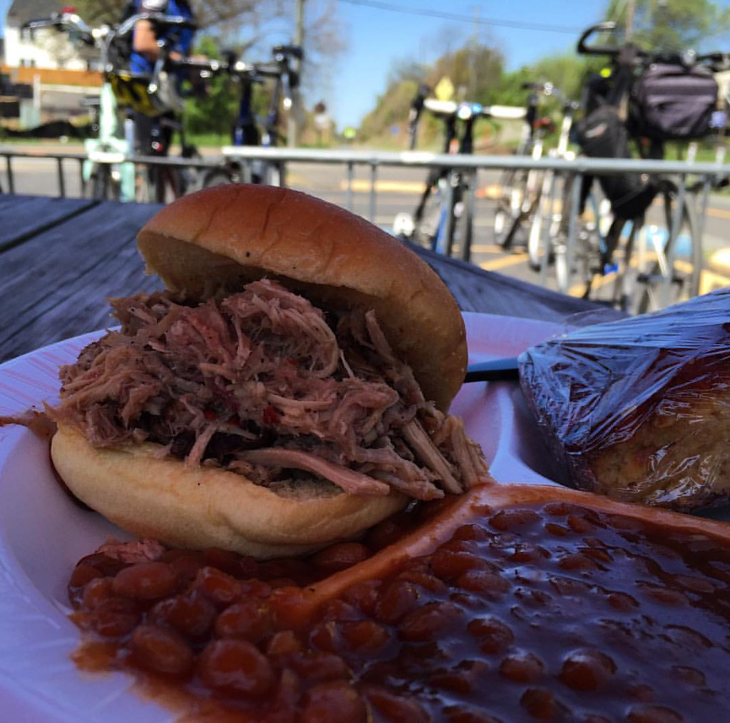 I prefer my biking with a side of BBQ #bikedc