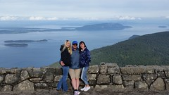 My wife, daughter, and I near the summit of Mount Constitution