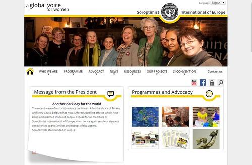 Home page sito Soroptimist Europe