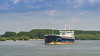 Cargo ship on the Danube river