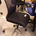 Black mesh swivel chair