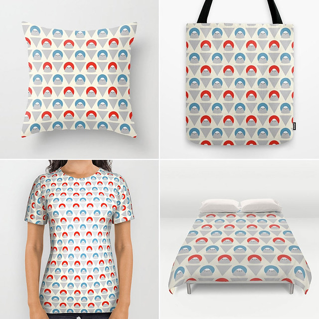 Mt Fuji Dots at Society6