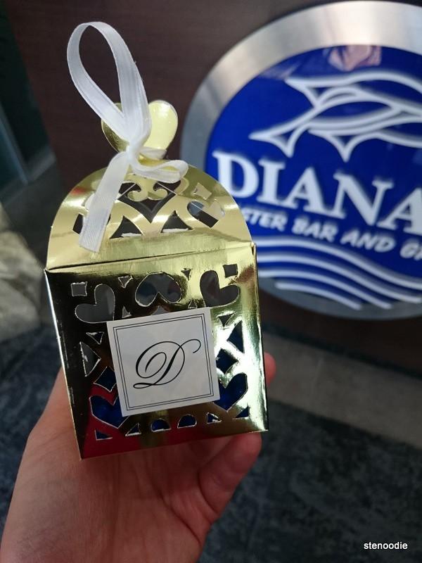 Gift of blue chocolate balls