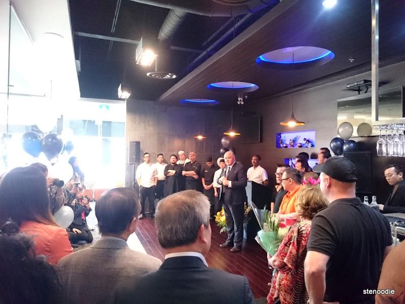 Mayor of Markham Frank Scarpitti making a speech