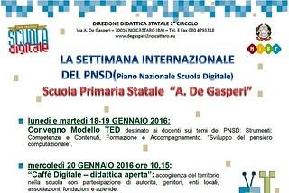 Noicattaro. Scuola Digitale De Gasperi front