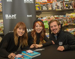 Yep, I'm still quite smitten by Lindsey Stirling. I caught up with her book tour tonight, where she, along with her sister and co-author, Brooke Passey, signed my copy of her memoir.