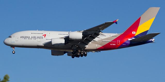 Asiana A380 LAX