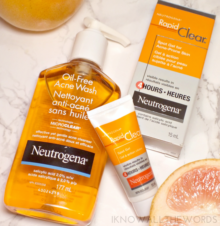 neutrogena rapid clear oil free acne wash and spot gel