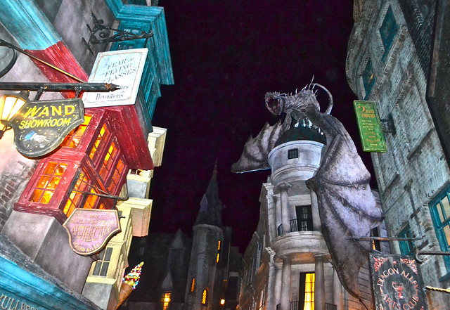 diagon alley, Universal Studios in Florida