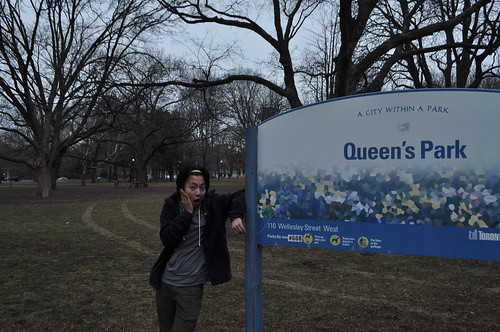 Queen's Park sign in Toronto