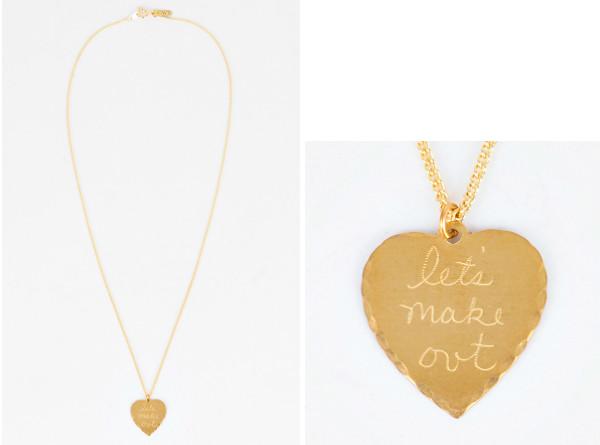 Let's make out in god we trust necklace. UK lifestyle blog. Fox Socks