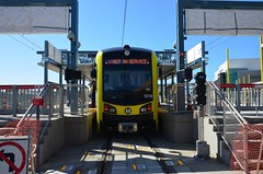 1527 MTA 1018 Expo Line 5th St Test Train 20160219 AKW