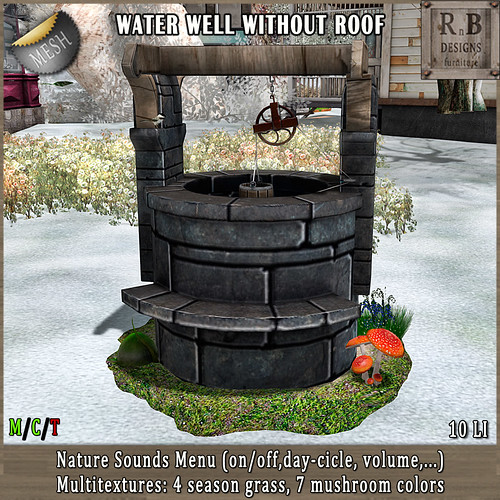EXCLUSIVE NEW!!! *RnB* Water Well wo Roof - Nature Sounds Menu & Multitextures (copy)