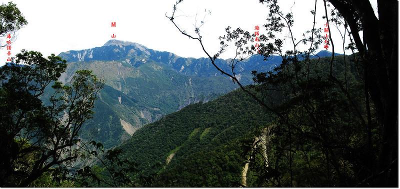 2196峰下北望關山稜線 1-1