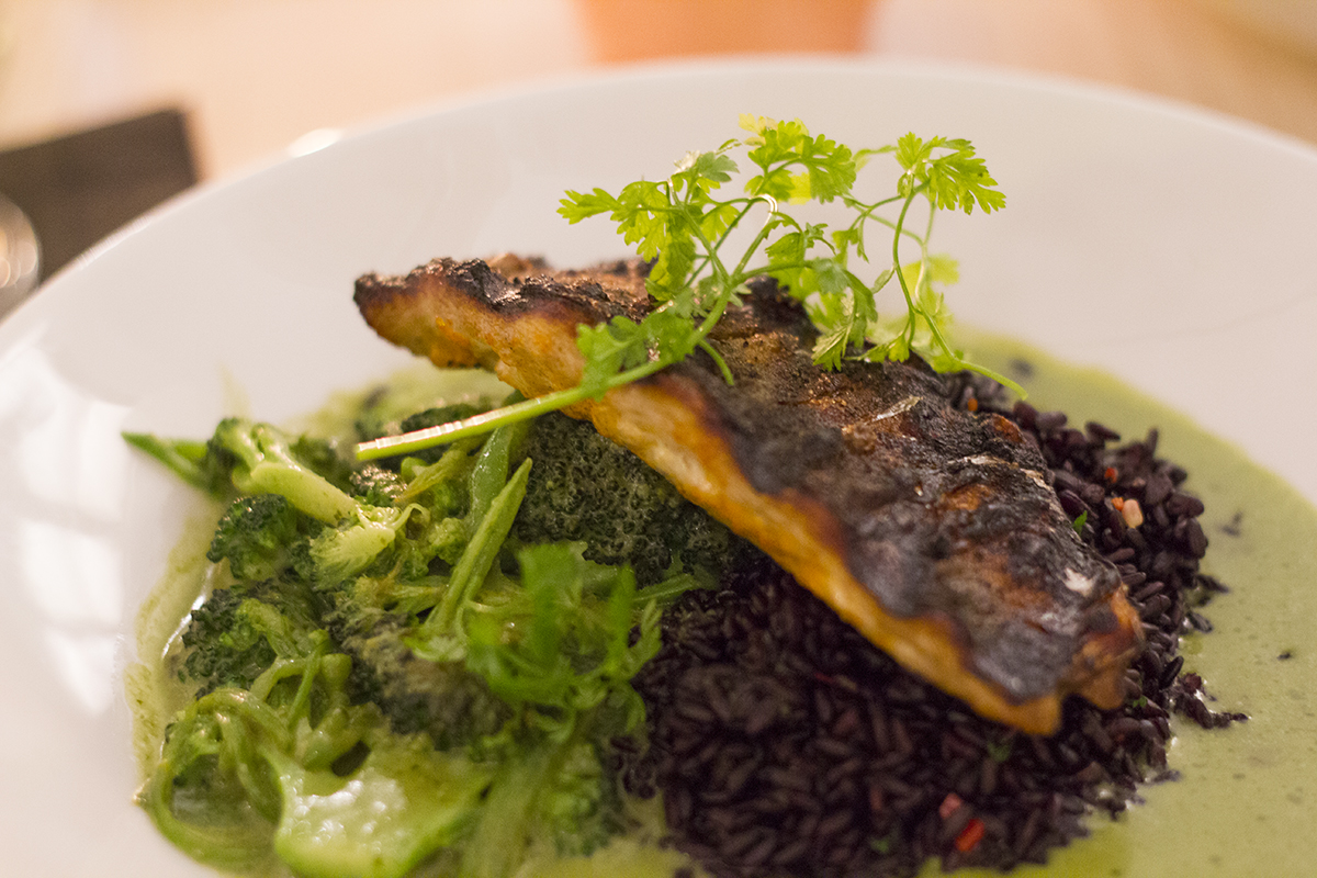seared-mackerel-black-rice-evelyns