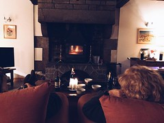 Sitting by the fire in a 300 year old house in Percy, France. - Photo of Chevry