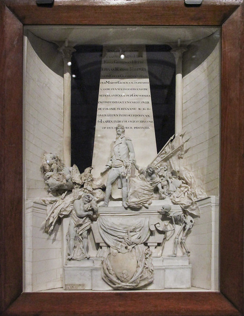 Model of the memorial of J.F. de Friderici Gerrit Schouten, wood papaer glass, 1812