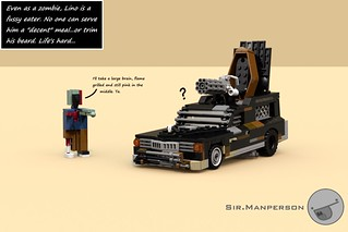 Post Apoc Hearse with Zombie Lino - 10-wide - Lego