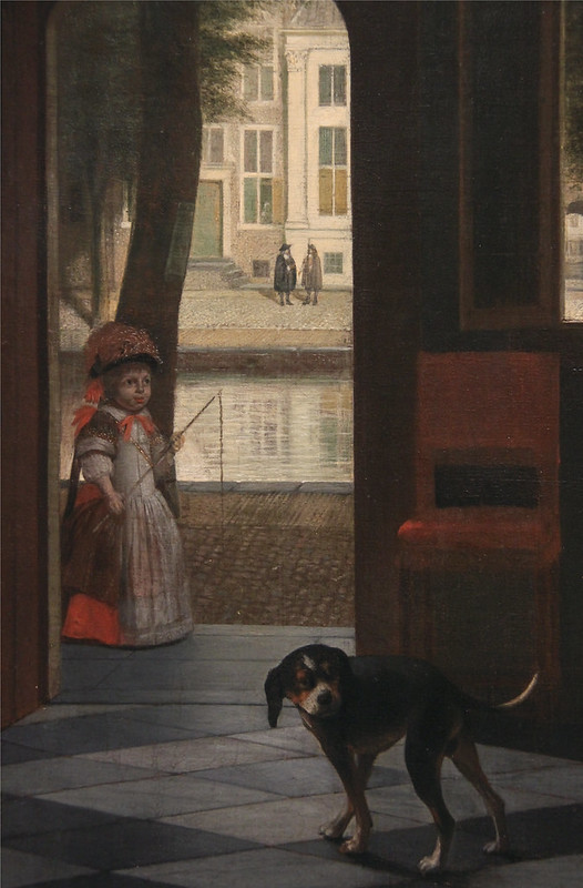 Man Handring a Letter to a Woman in the Entrance Hall of a House, Pieter de Hooch, 1670
