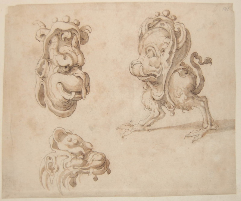 Arent van Bolten - Monster 141, from collection of 425 drawings, 1588-1633