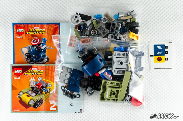 REVIEW LEGO 76065 Mighty Micros Captain America vs Red Skull (HelloBricks)