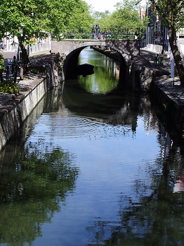 A bridge over the canal in Edam, Holland