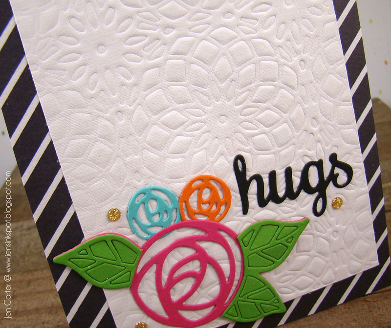 Jen Carter Embossed Hugs Closeup