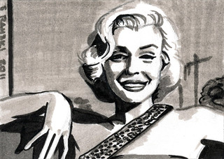 Marilyn Monroe Sketch Card
