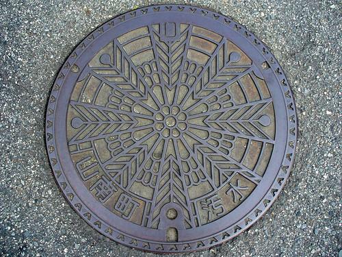 Sannan Hyogo, manhole cover (兵庫県山南町のマンホール)