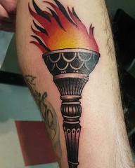 Bradley made this torch. What a flamer! See more @brad_snow_art  SLC Ink Tattoo 1150 South Main Street Salt Lake City, Utah (801) 596-2061 slcinktattoo@gmail.com www.slctattoos.com   #slc #801 #tattoo #slcink #utahtattoo #utahtattoos #saltlaketattoo #arti