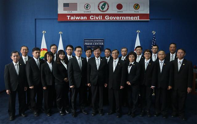 20160430 台灣民政府 中央國務院總理府大臣們合照