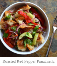 Roasted Red Pepper Panzanella