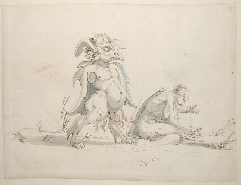 Arent van Bolten - Monster 178, from collection of 425 drawings, 1588-1633