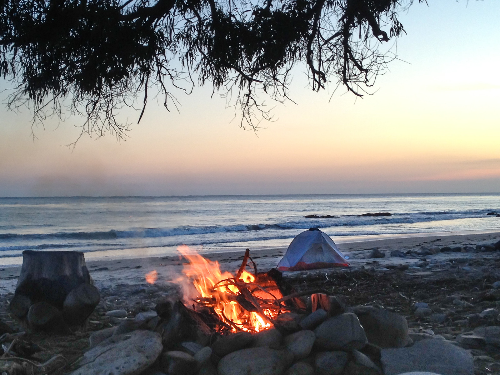 Camping on the Pacific Coast
