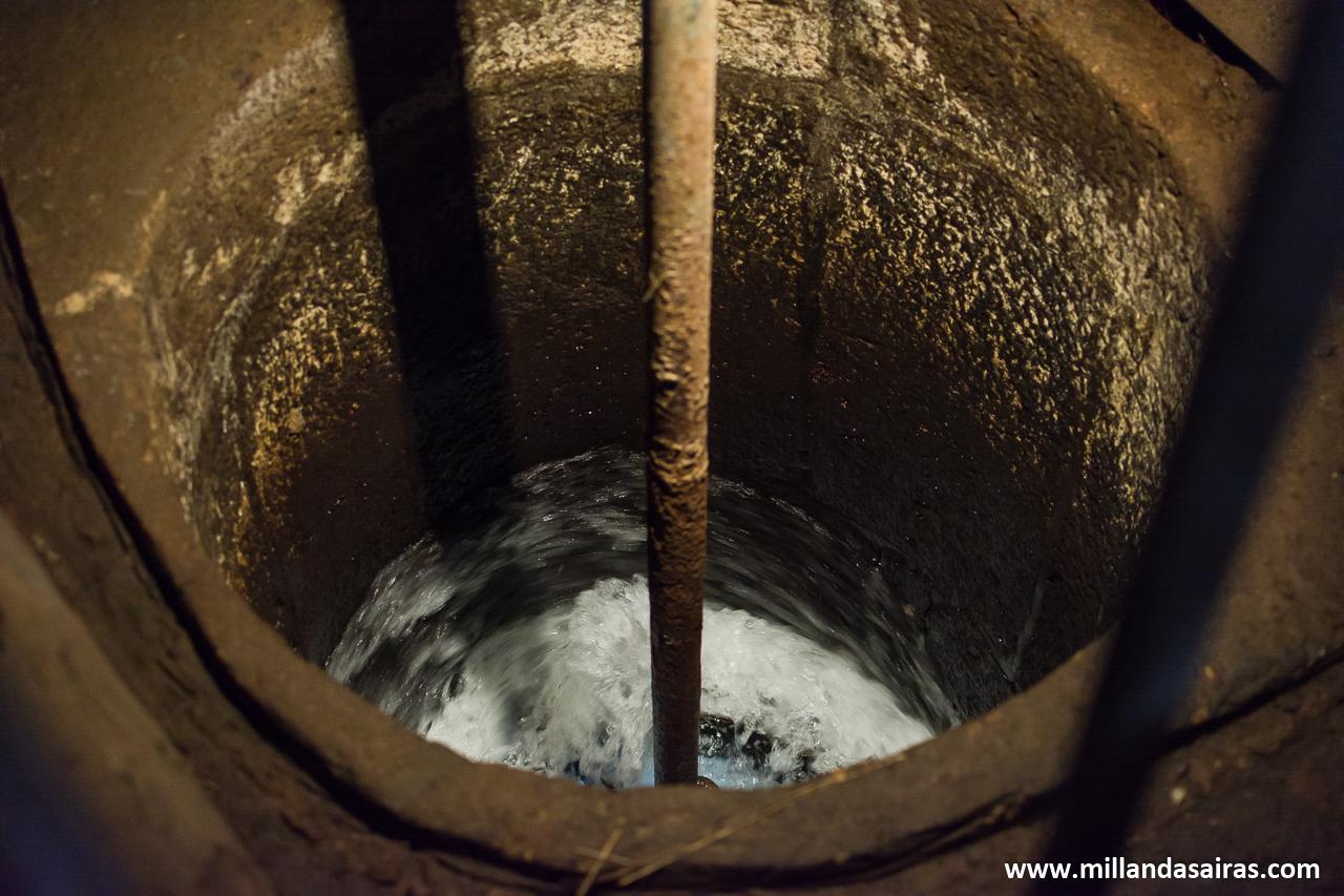 Entrada de agua para mover el molino