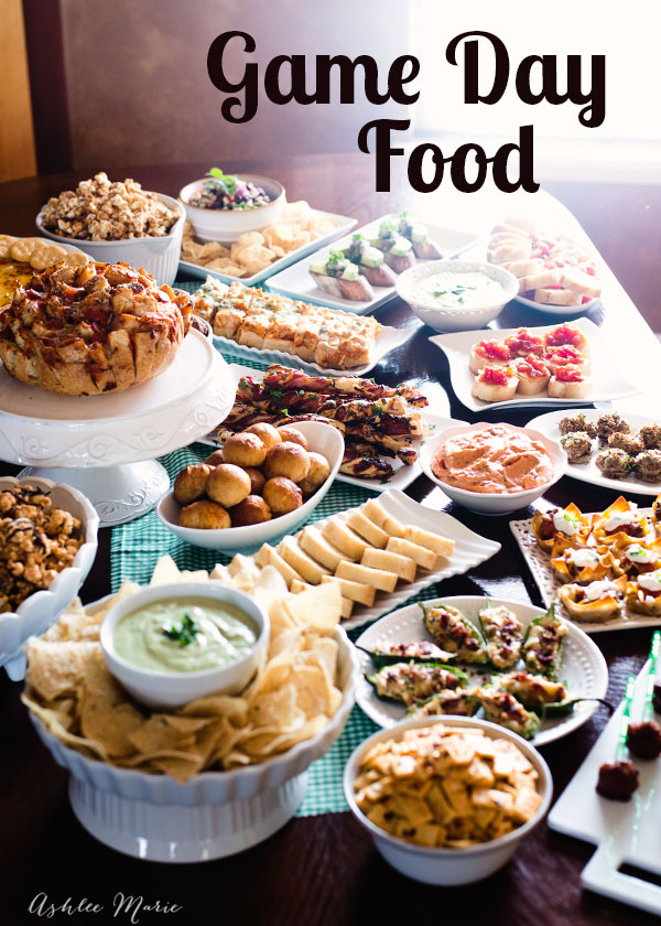 the perfect collection of game day recipes - dips, breads, finger foods and more. Something for everyone