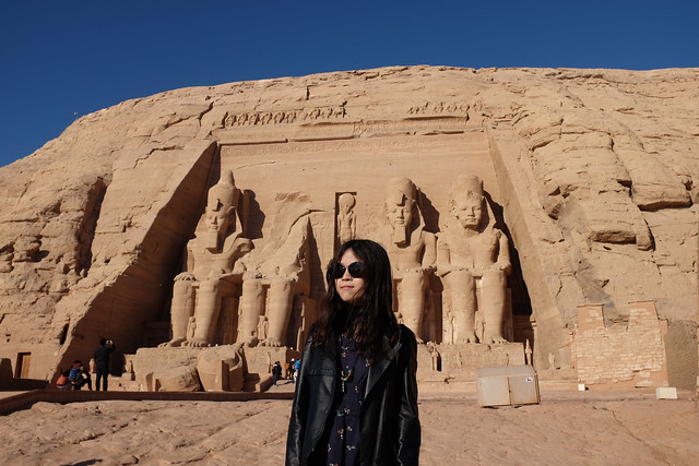 Header of Abu Simbel Temples