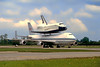 905. Space Shuttle Enterprise carried atop NASA's modified Boeing 747 Shuttle Carrier Aircraft 905