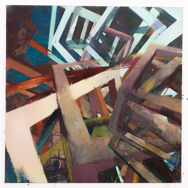 Oszill,100x100cm, Eggtempera,Oil/Pigment, 2014 (3.600€)