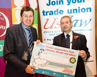 Ken Supporting Usdaw Trade Union