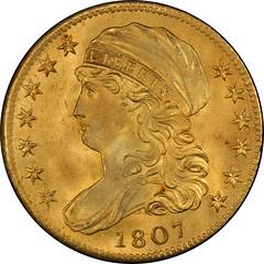 1807 Capped Bust Left Half Eagle obverse