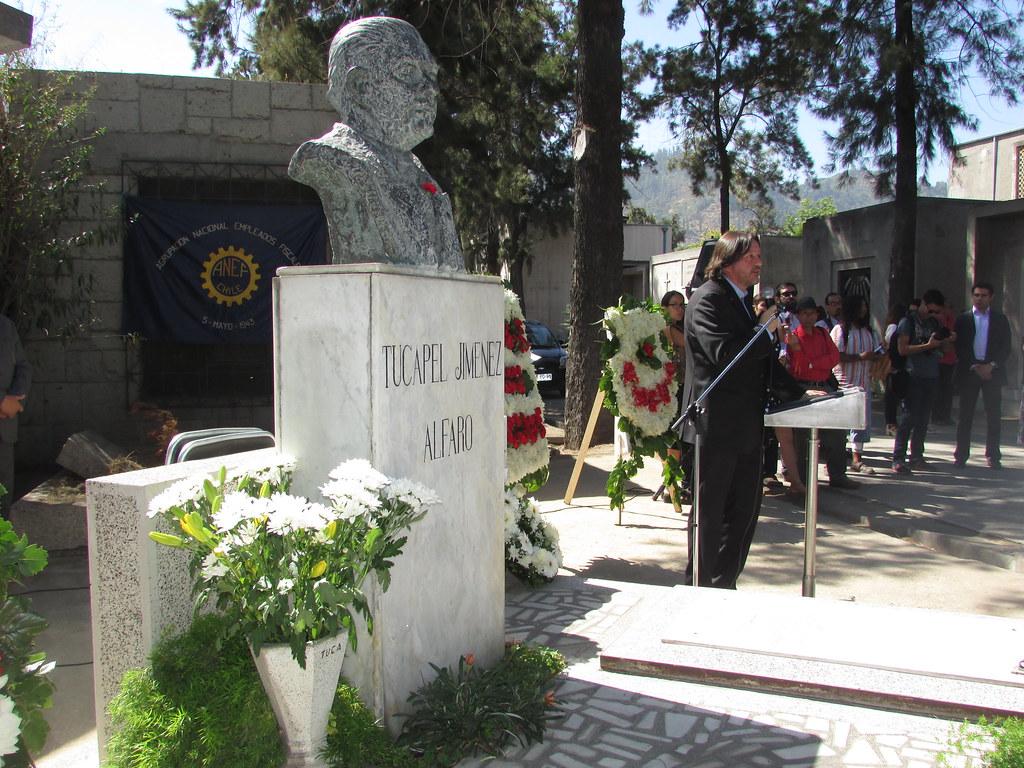 Dirigentes FTH presentes en Homenaje a Tucapel Jiménez en el aniversario de su muerte - 25 Febrero 2016
