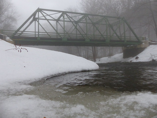 Falls Rd Bridge on the Gunpowder River Socked in