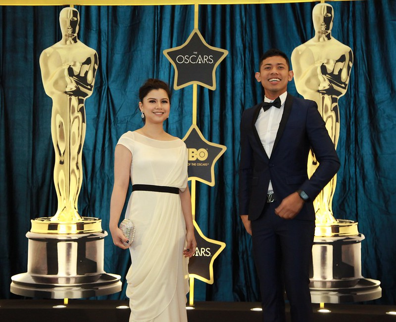 HBO live screening of the Oscars - event host Lisa Surihani & Nabil Ahmad