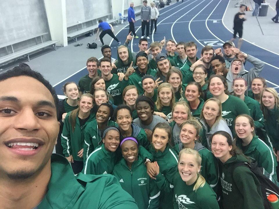 Northwest's track team at Concordia University in Seward Nebraska